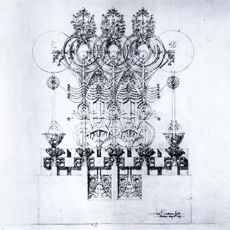 Plate 18 Untitled From Louis Sullivan S System Of Architectural Ornament 1923 Louis Sullivan Architecture Drawing Architecture Drawings