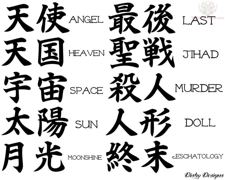 Japanese Symbols Kanji Tattoo Symbolic Tattoos Japanese Tattoo Symbols