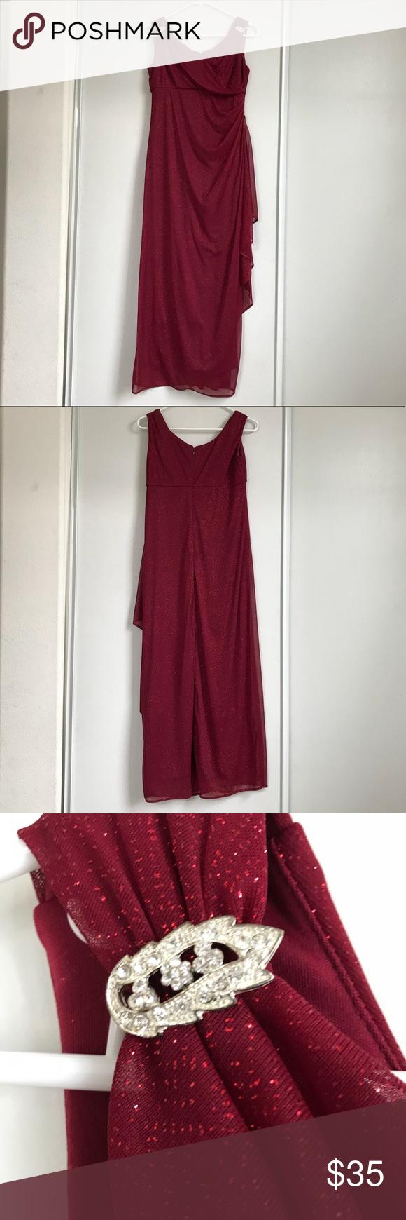 R u m richards gorgeous red glitter dress red elegant glitter dress