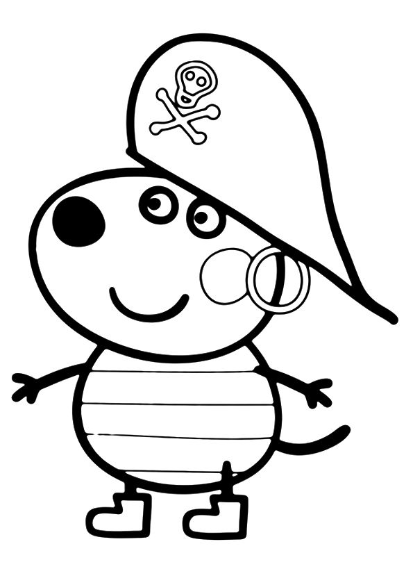 print coloring image | facebook and craft - Peppa Pig Coloring Pages Print