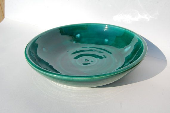 Handmade Teal/Green and Turquoise Fruit Bowl Ideal by REDceramics, £16.00
