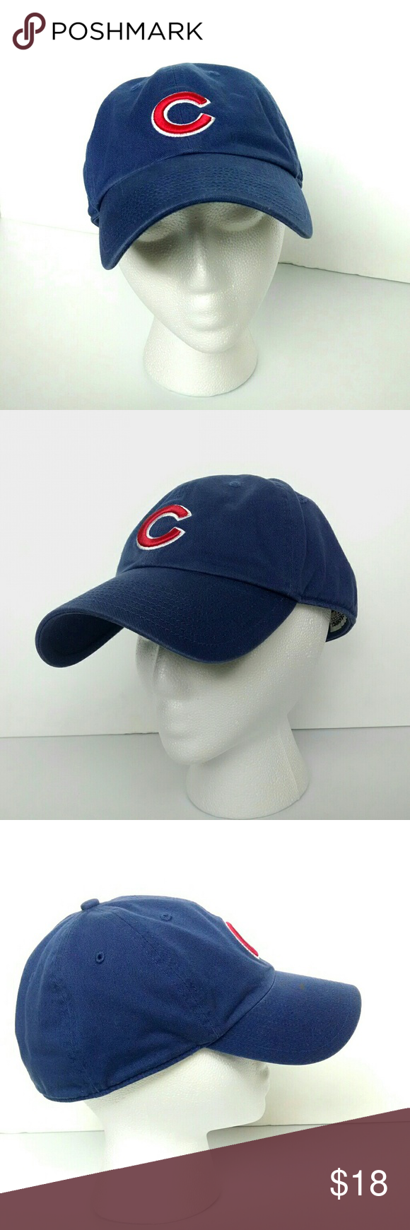 992df4c9bc7 Chicago Cubs Fitted Baseball Cap Excellent Used Condition MLB Genuine  Merchandise