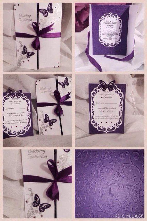Items Similar To Cadbury Purple Butterfly Themed Wedding