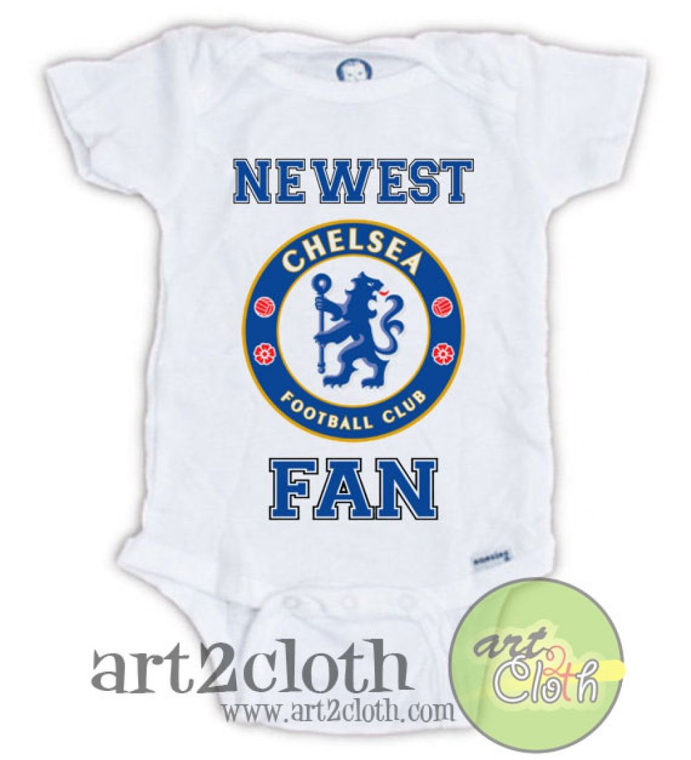 ANY RELATION... NOVELTY FUN CHELSEA SUPPORTER BABY BIB WITH PERSONALISED PHOTO