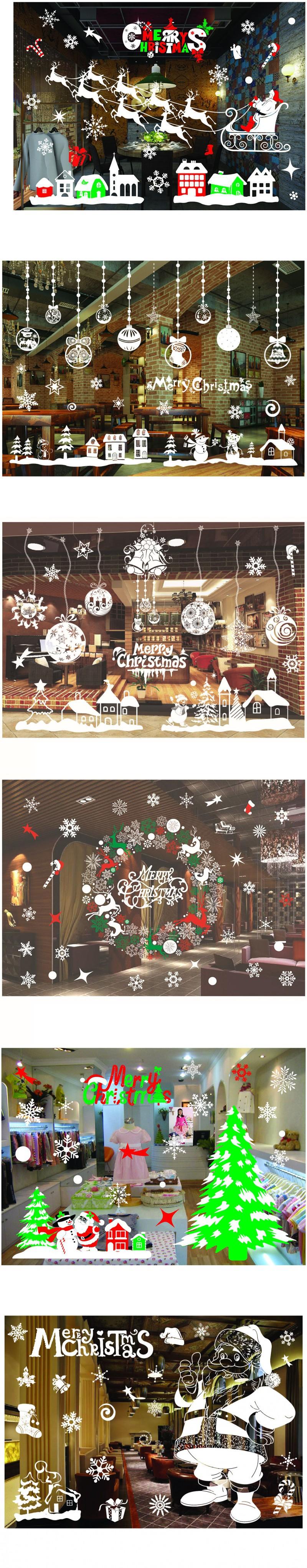 Diy new snow town christmas wall stickers window glass showcase diy new snow town christmas wall stickers window glass showcase sticker decorative wall decals adornos navidad xmas home decor amipublicfo Choice Image