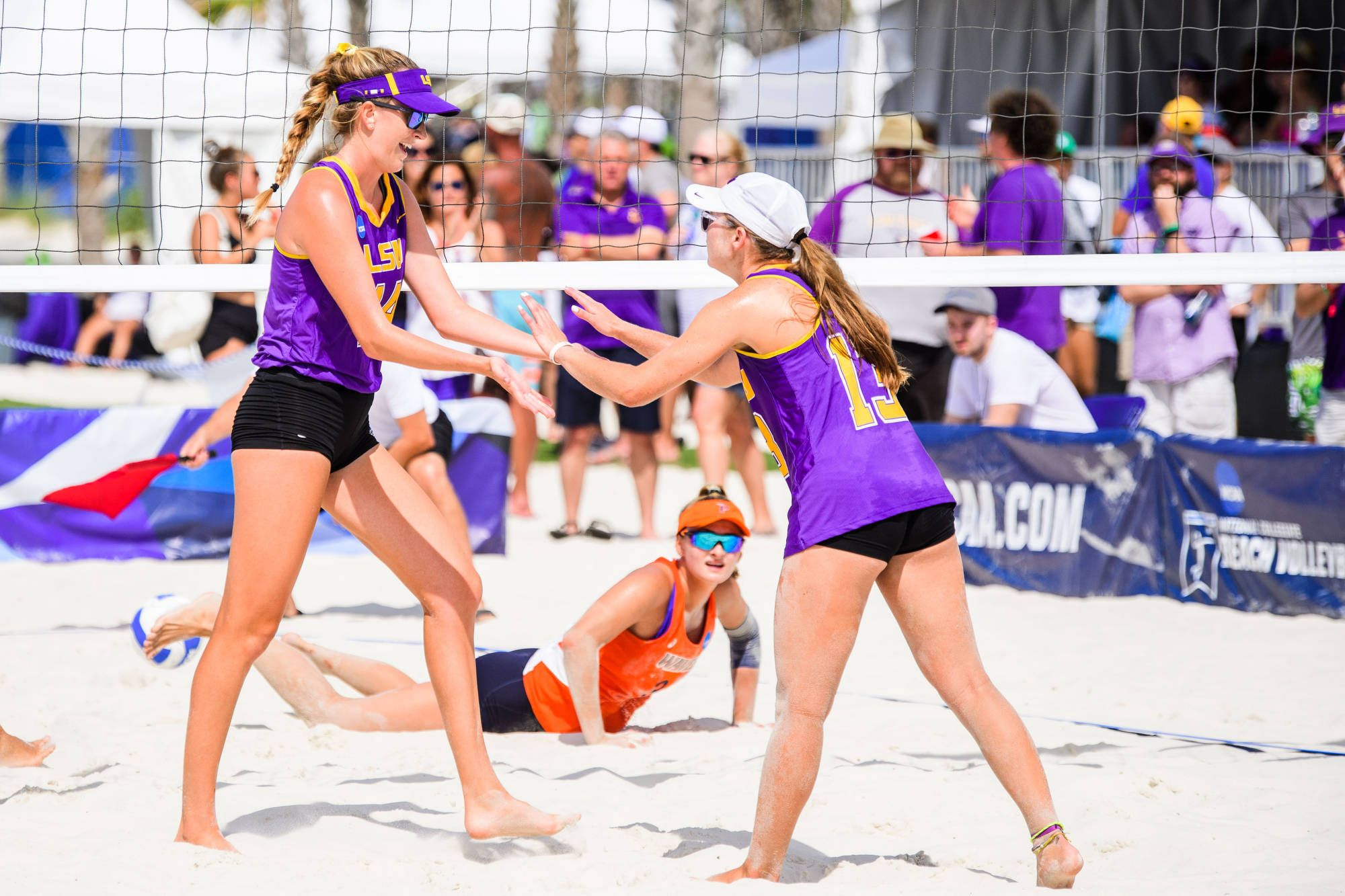 Tell It Like It Is Talk Show Beach Takes First Round Ncaa Match Over Pepperdine Match Of The Day Beach Volleyball Ncaa