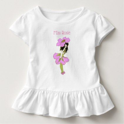 ce16eb5b7d3 Child Name Vintage Garden Flower Girl Ruffle Tee - girl gifts special  unique diy gift idea