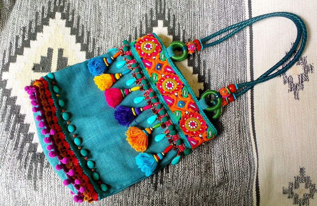 Bright Boho bag ~ my recent work