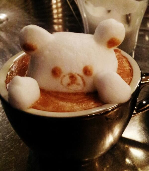 latte bear! www.sozolife.com/chrismaslanka  Ask for your free sample of the best instant caffe latte (or coffee!) you'll ever taste. And it's good for you too!