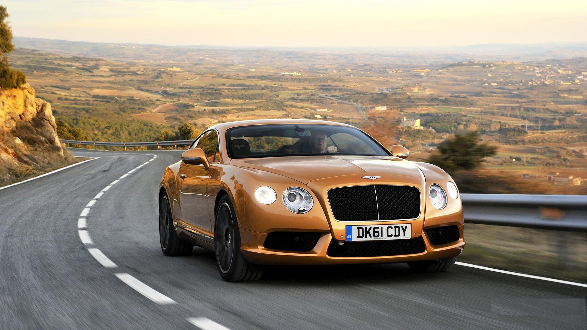 Image For Golden Bentley Continental Gt Cars Bentley Cars