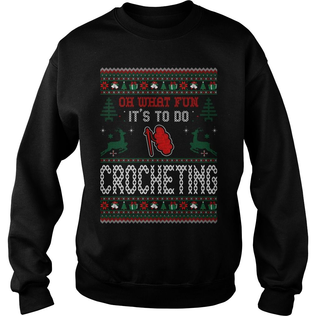 What fun to do crocheting christmas ugly sweater womens premium t what fun to do crocheting christmas ugly sweater womens premium t shirt gift solutioingenieria Images