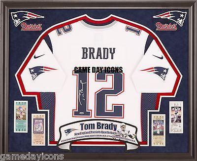 Tom Brady Luck ect. Custom Frame your Nike, Reebok autographed ...