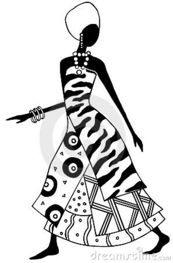 Cultura Africana Desenhos PF37 - Ivango