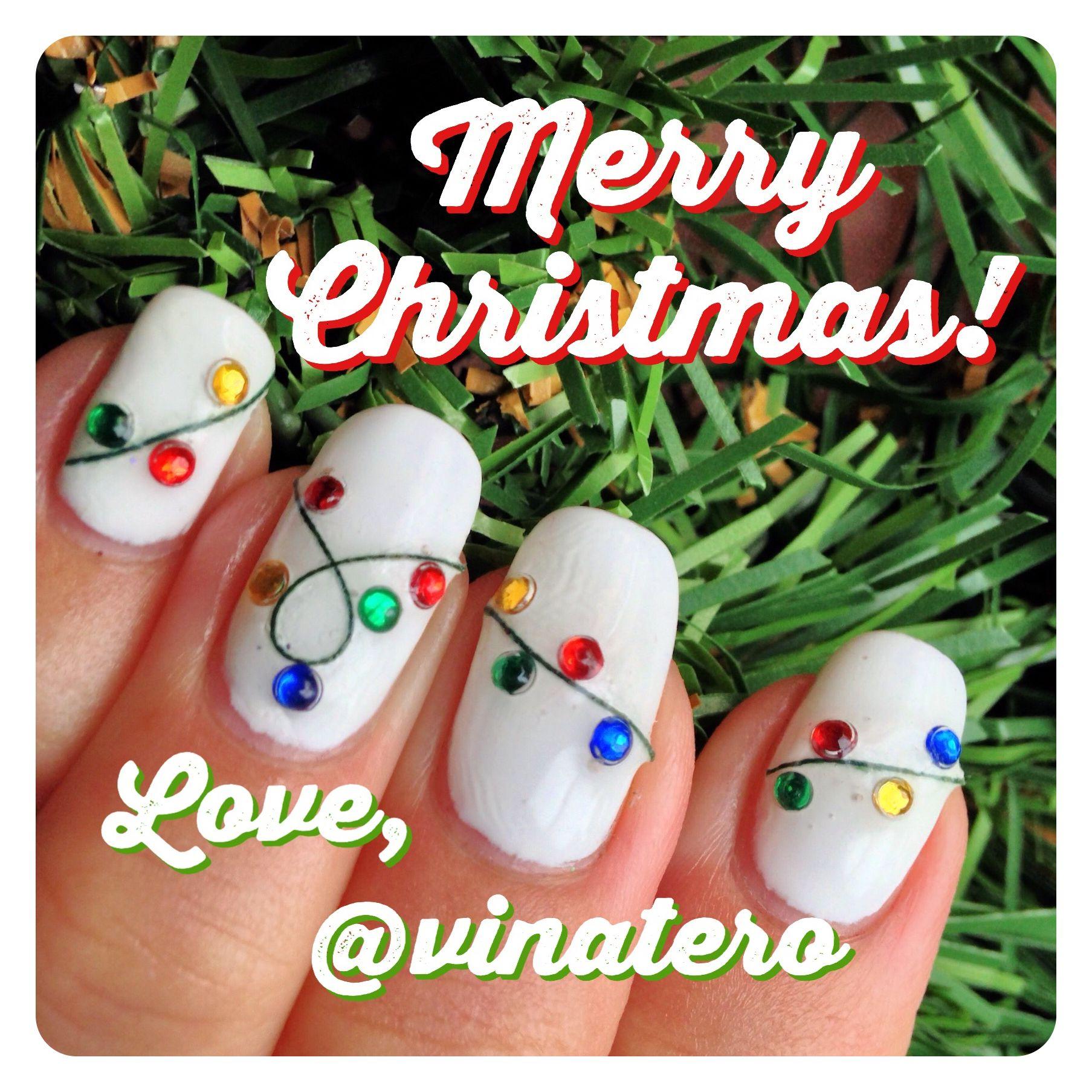 Christmas Lights Nails | Christmas & Winter Nail Art | Pinterest