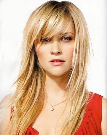 Kapsels Lang Haar Blond Met Een Pony Kapsels Lang Hair Pinterest