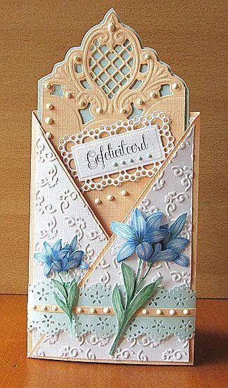 simple cross over card idea | Card Making | Pinterest ...