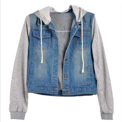 20647a52852a Lucky2Buy Women s Jean Outerwear Denim Hoodies Jacket for Teen Girls ...