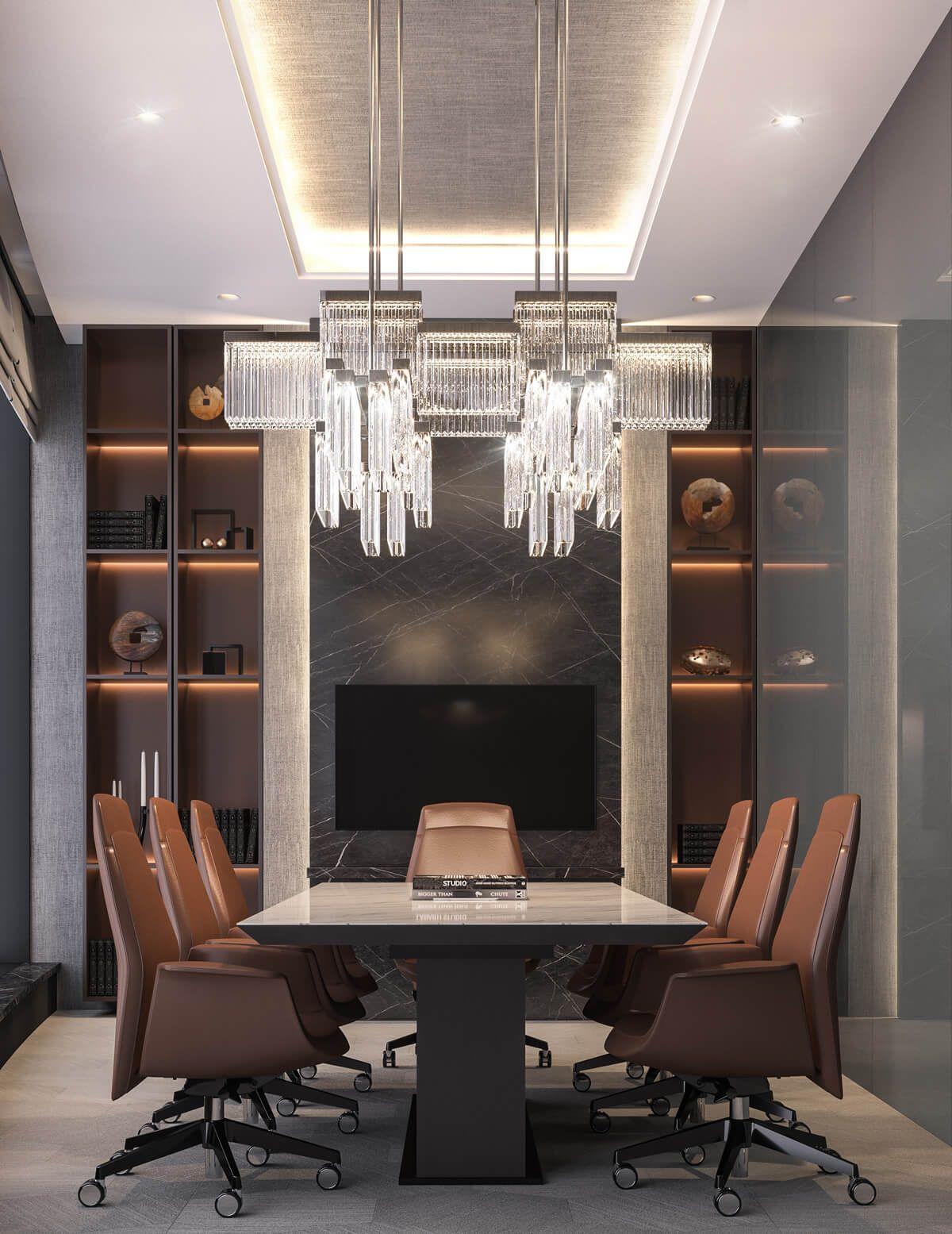 Modern Luxury CEO Office Interior Design - Jeddah, Saudi Arabia - CAS #architecturallightingdesign