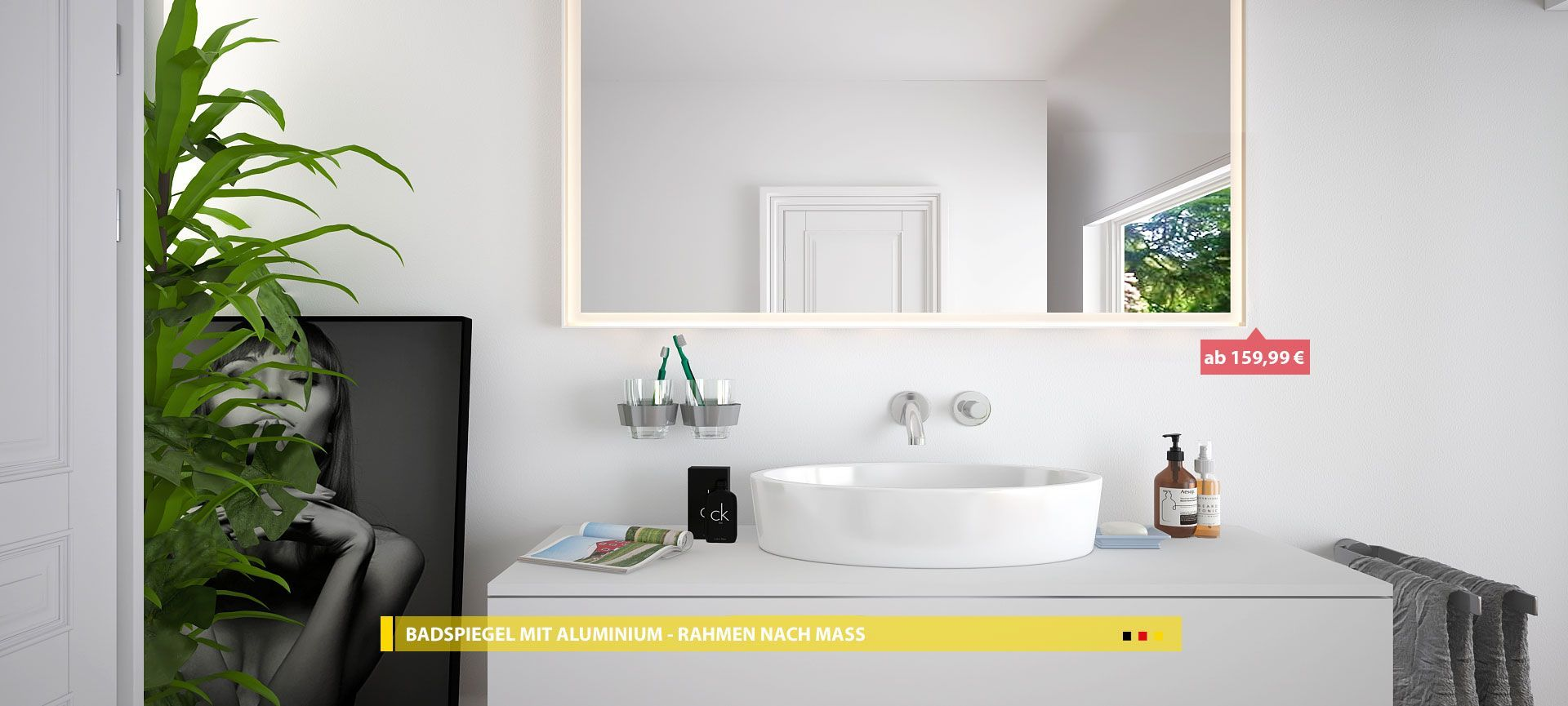 Badspiegel Mit Rahmen Badspiegel Badezimmerspiegel Und Spiegel