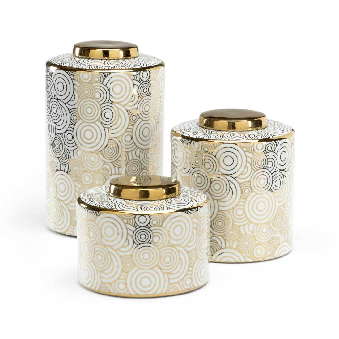 White And Gold Kitchen Canisters Instaimage