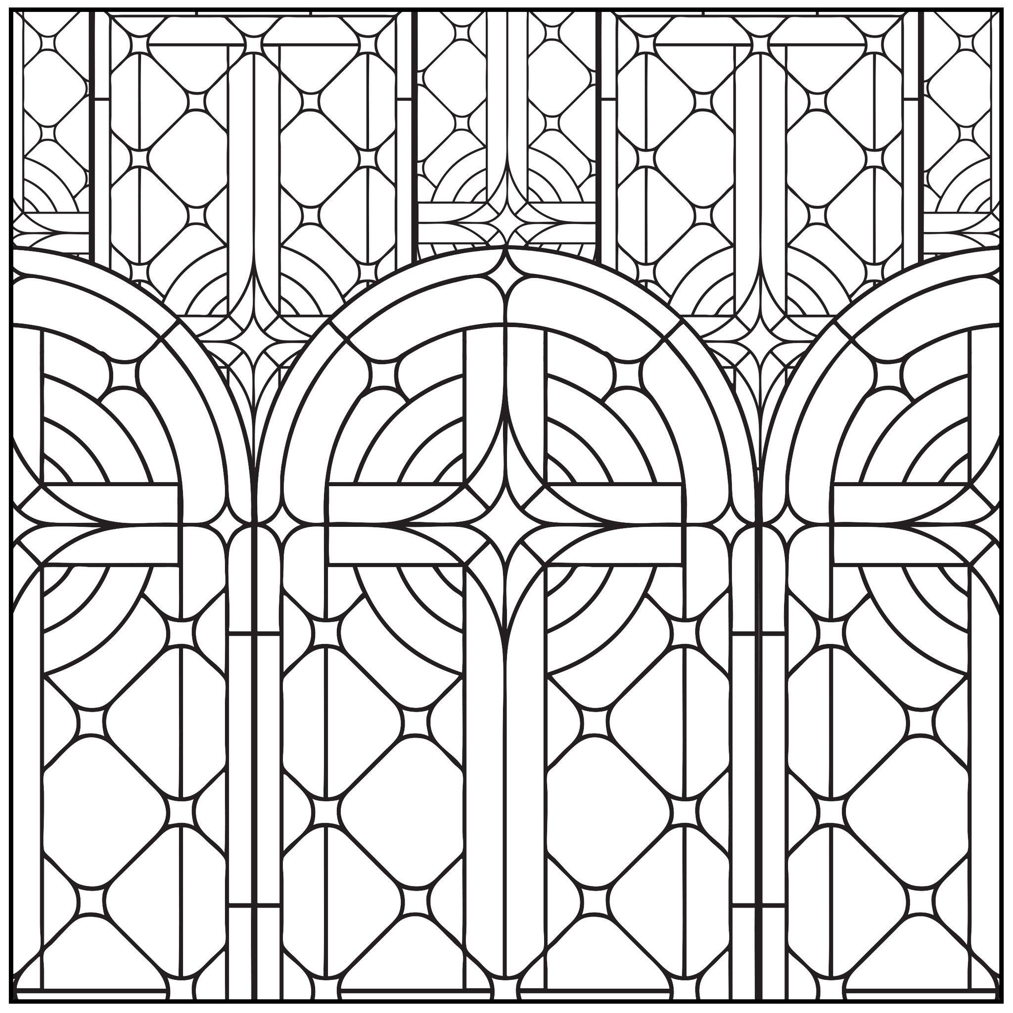 Coloriage colorier le vitrail pinterest coloriage colorier et vitraux - Vitraux a colorier ...