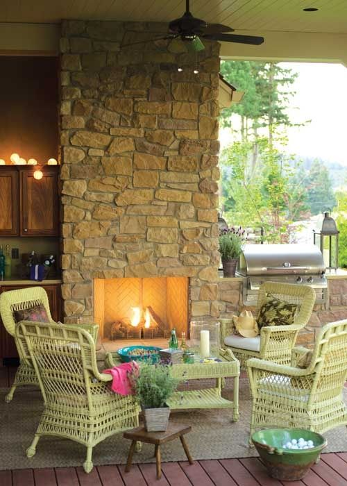 Amazing outdoor fireplace designs part 3 fireplace for Outdoor rooms with fireplaces
