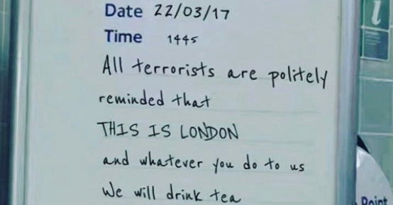 Yesterday, London suffered a terrorist attack that left four people dead (including the assailant) and at least 40 injured. This morning, Londoners around the city got up and went to work as...