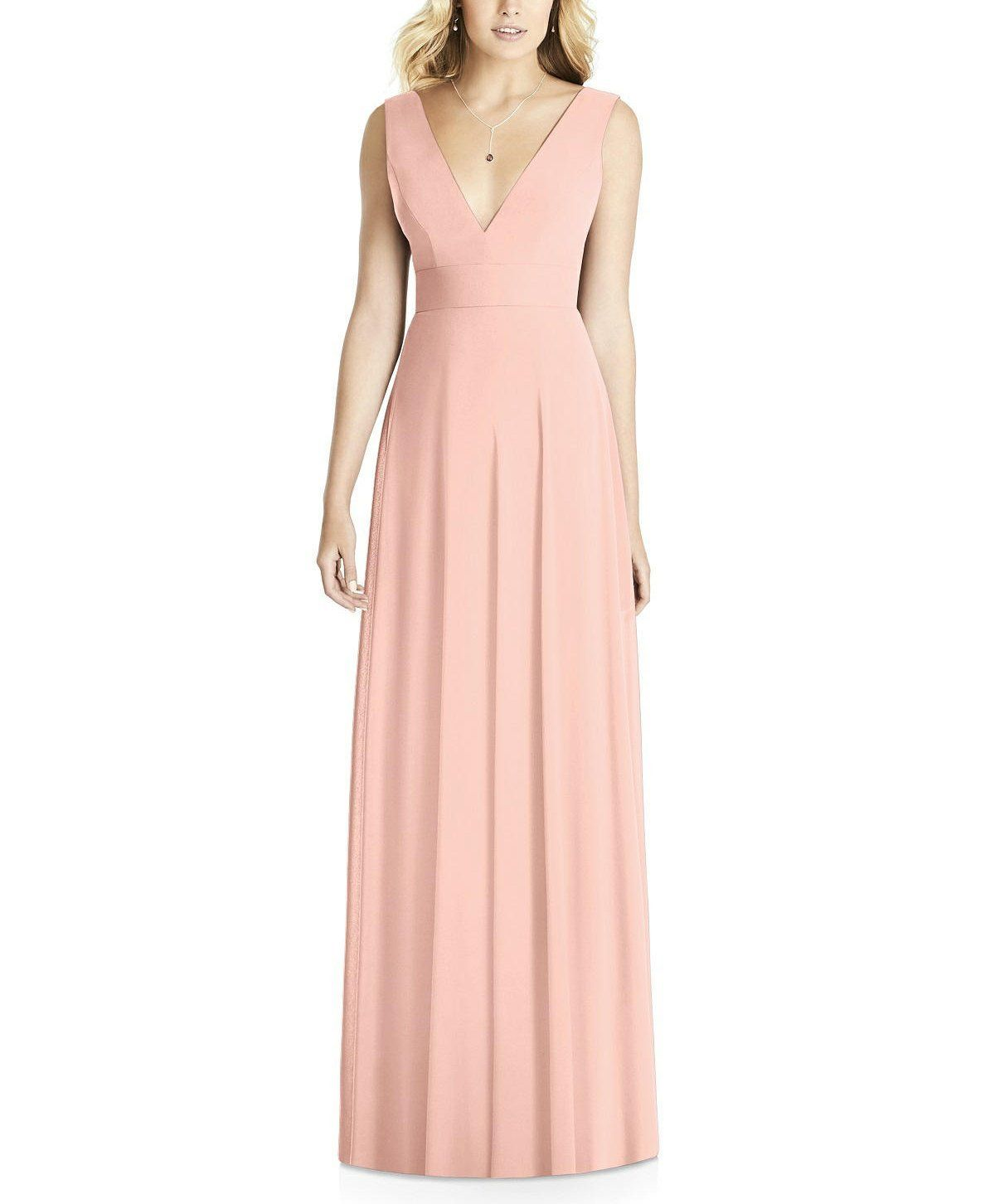 4571c518dee Description - Social Bridesmaids Style 8185 - Full length bridesmaid dress  - Vneck and matching V back - Clean lines and flat front skirt - Matte  Chiffon