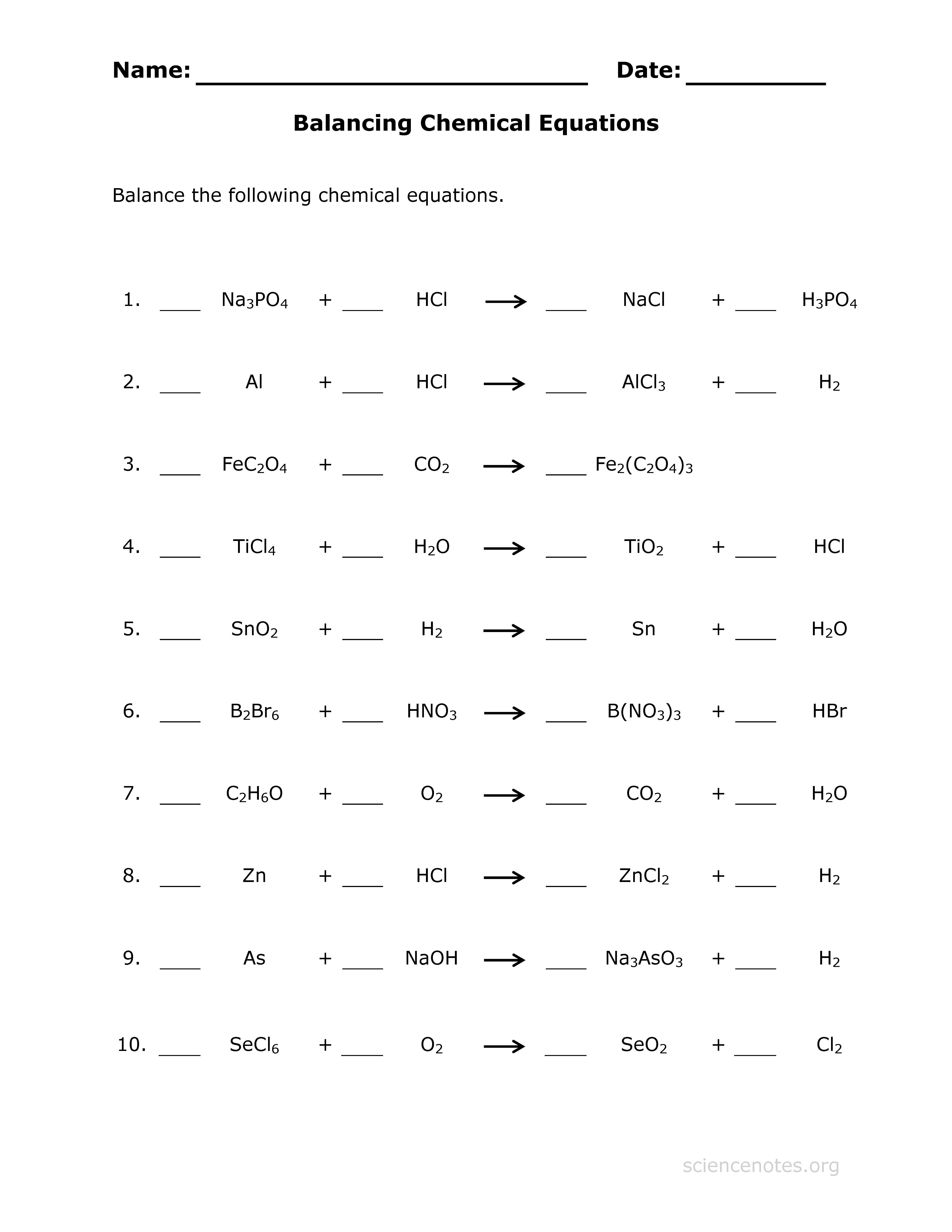 Pin By Rosa Amalie On School Chemical Equation Balancing Equations Chemistry Worksheets [ 6600 x 5100 Pixel ]