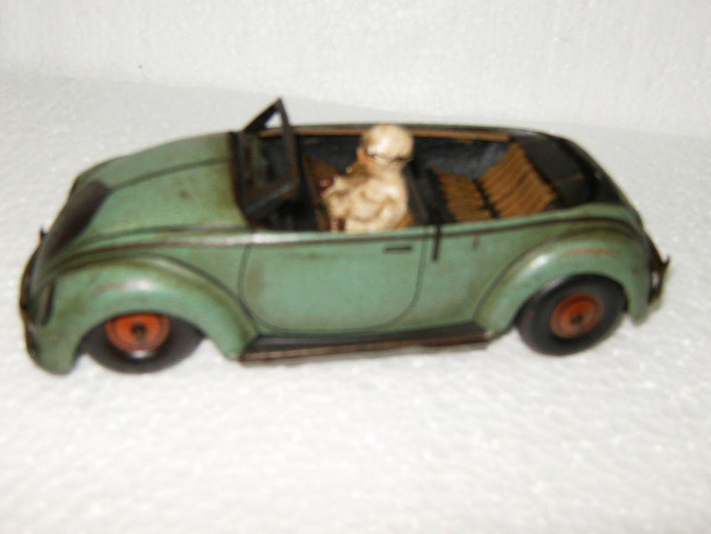 VINTAGE TIN TOY CABRIO CAR   CKO Kellermann 1939's~1946's GERMANY