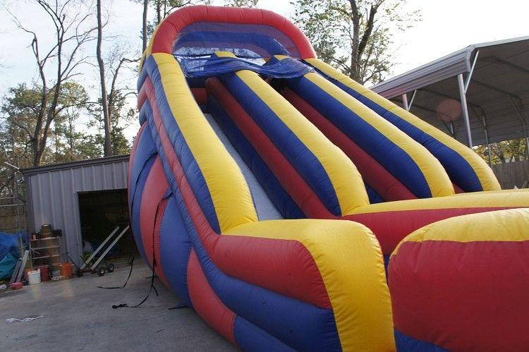 Dual Lane Inflatable Slide Rental Houston   Sky High Party Rentals