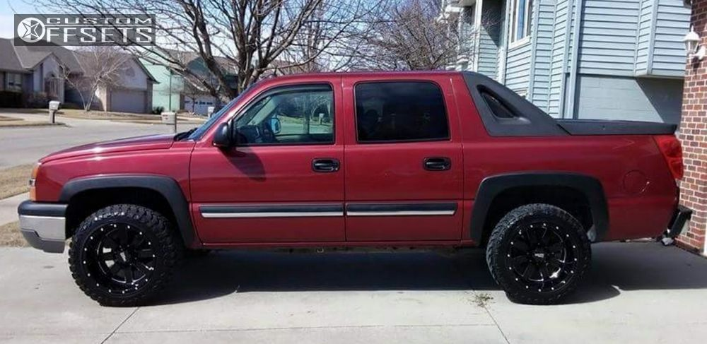 Wheel Offset 2004 Chevrolet Avalanche 1500 Super Aggressive 3 5