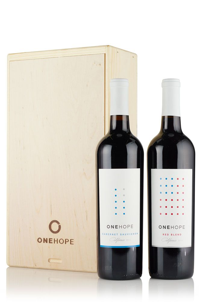 Viaonehope 2 Bottle Wood Gift Box Red Blend And Cabernet Sauvignon Red Wine Gifts Wine Gift Boxes Wine Gifts