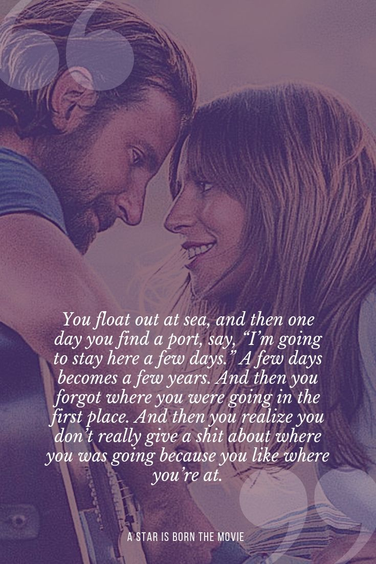 Quote Of A Star Is Born With Bradley Cooper And Lady Gaga With