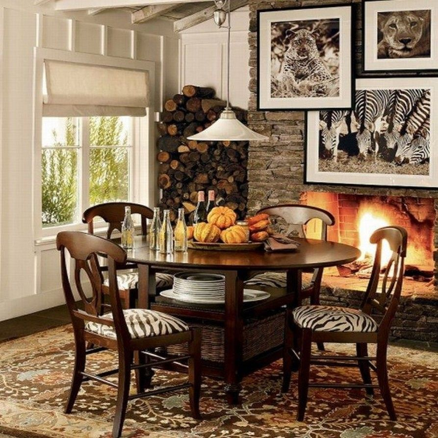 Animal Print Dining Room Chairs With Rugs
