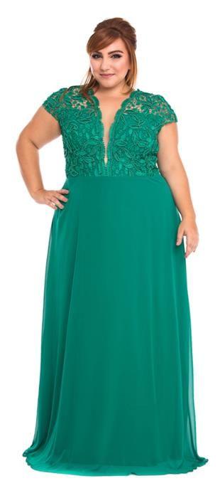 Vestidos color verde esmeralda para gorditas