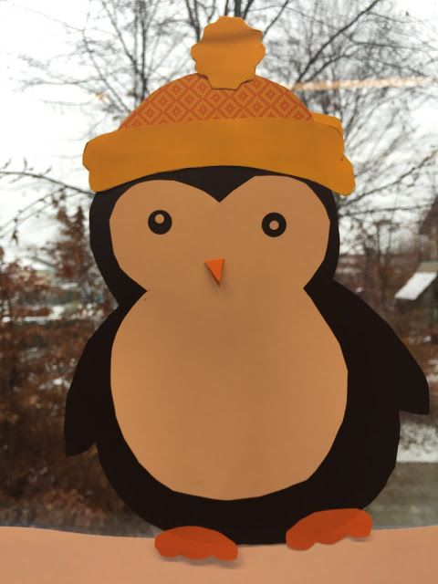 fensterbilder pinguine mit bildern  weihnachtsdeko