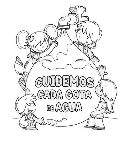 Recursos Y Actividades Para Educacion Infantil Con Los Que Todo Maestro Suena Juegos Fichas Recurso Agua Para Colorear Cuidado Del Agua Dia Mundial Del Agua