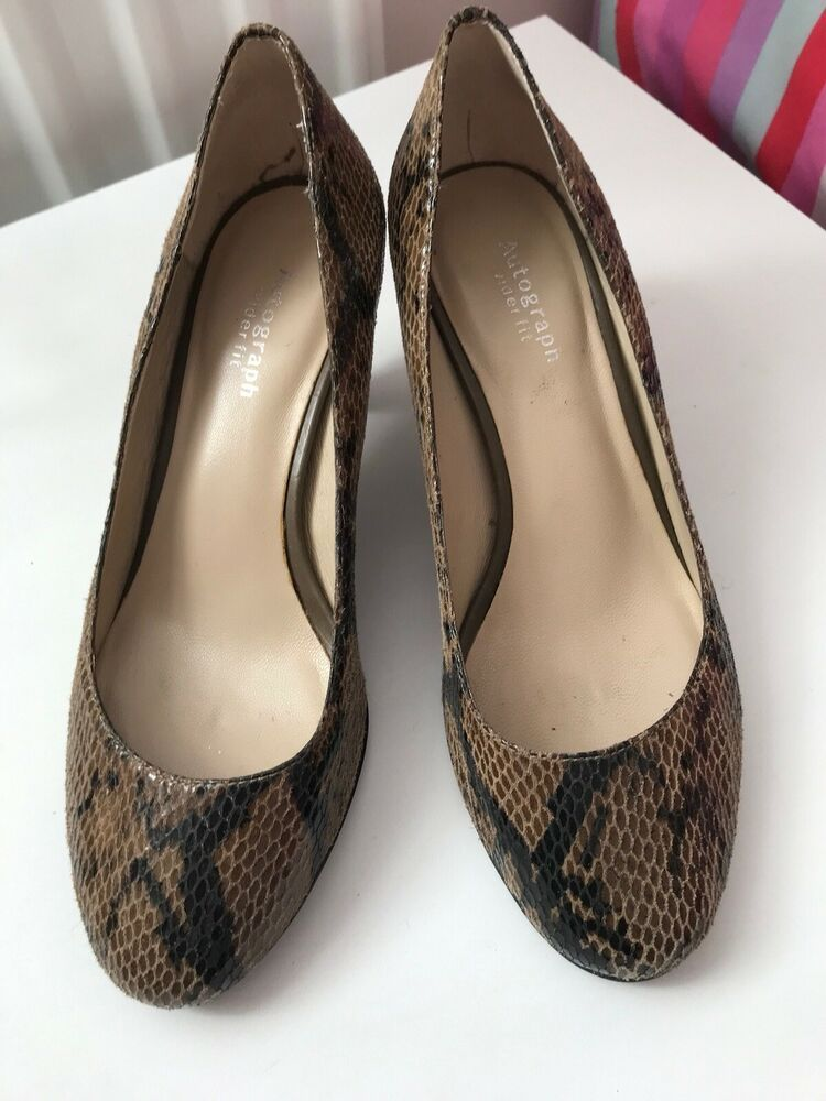 0ecbaadcd M S Autograph Snakeskin Animal Print Kitten Heels Size 4 Wider Fit Hardly  Worn - Kitten Heels from Ebay UK -  KittenHeels  heels 3.99 End Date   Monday ...