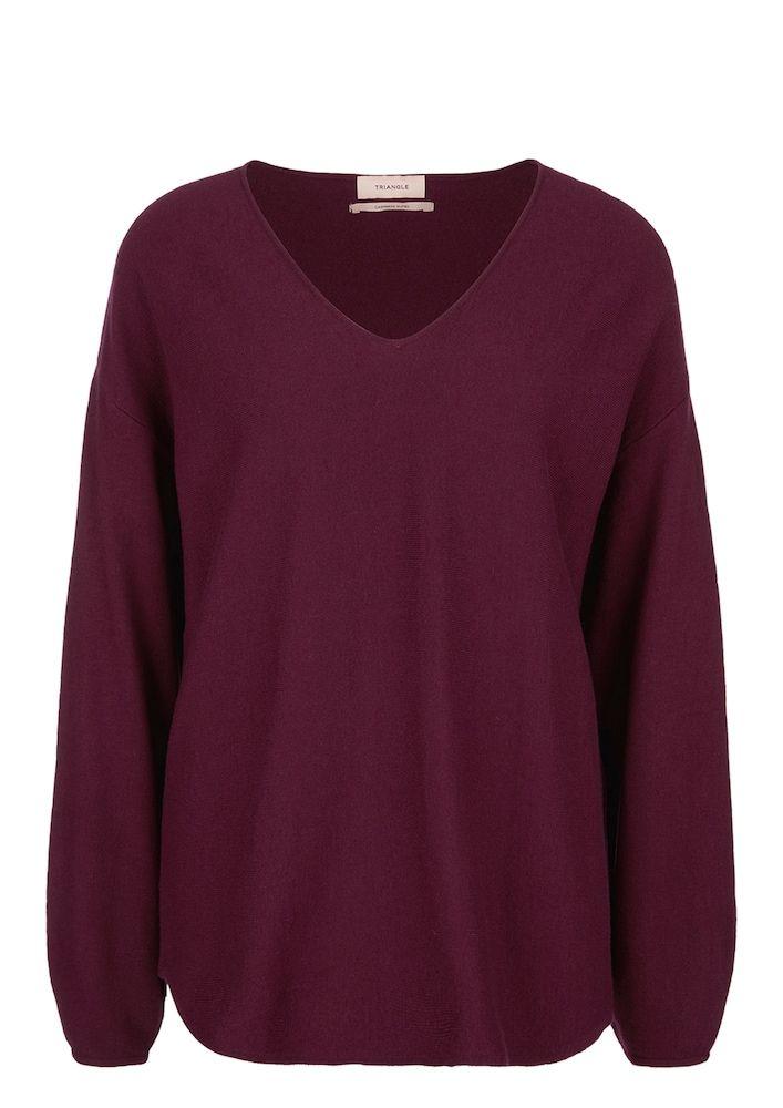 TRIANGLE Pullover Damen, Rotviolett, Größe XXXL | Pullover