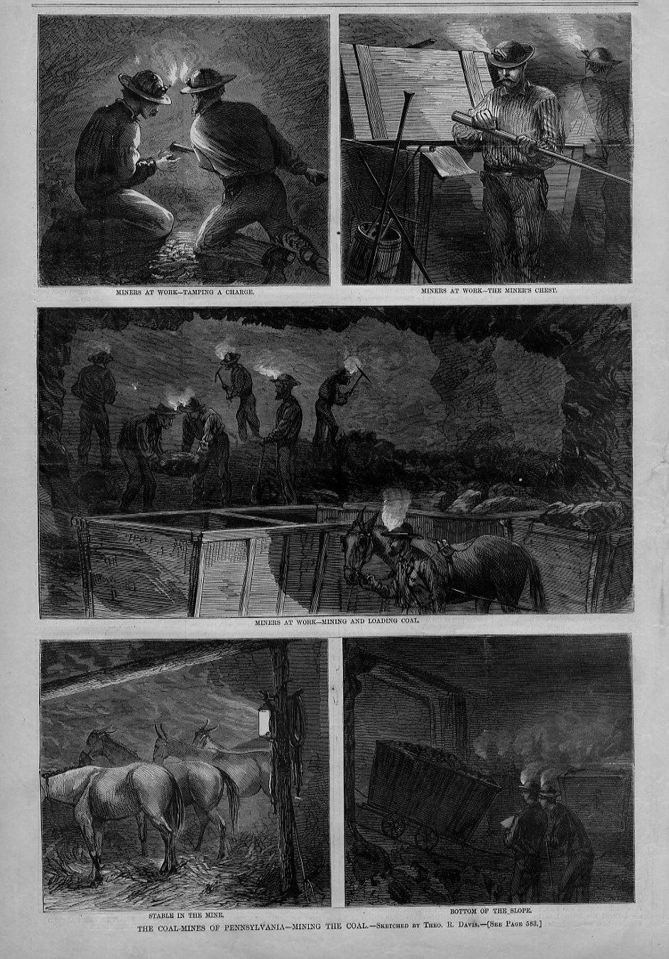 COAL MINES OF PENNSYLVANIA HISTORY MINERS AT WORK MULE LANTERN CANDLE HEADLAMP