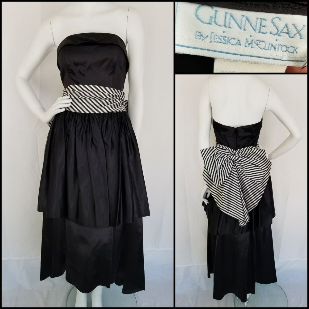 80s bow idea | 80s Dress | Prom dresses,