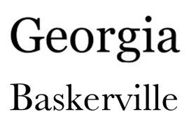 Font Change! Baskerville is out for text, Georgia is in