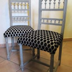 anciennes chaises henri iv relookees relooking meuble pinterest relooker henri et chaises. Black Bedroom Furniture Sets. Home Design Ideas