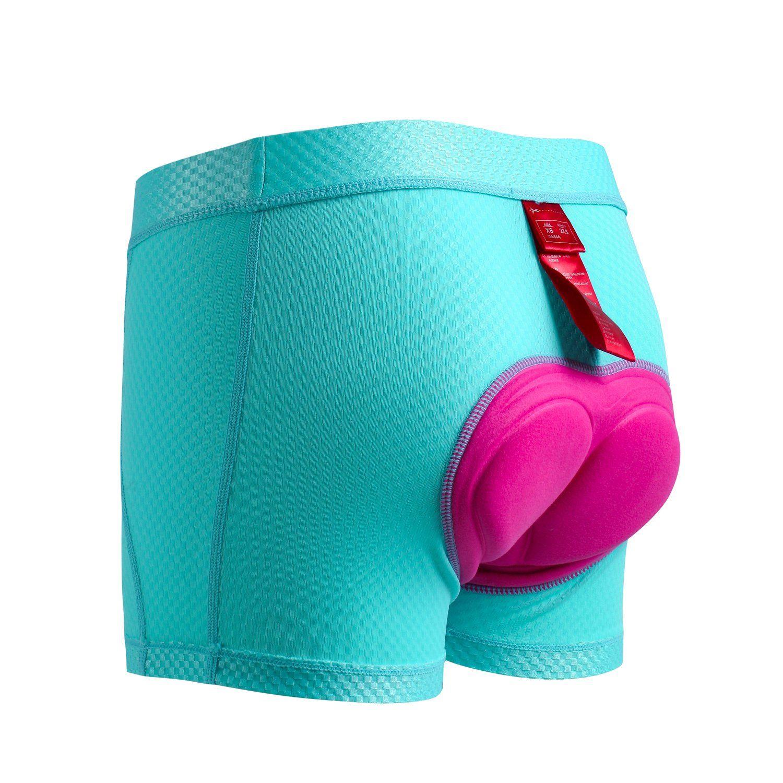 Santic Womens Cycling Shorts Underwear Padded MTB Bike Bicycle Underpants Breathable Rainbow