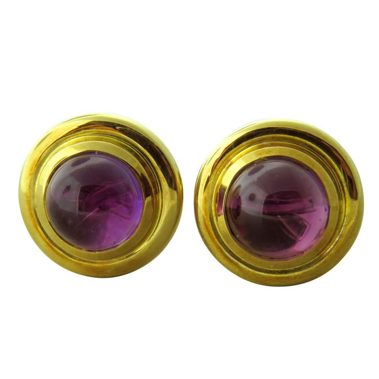 0d1952aaa Tiffany and Co Paloma Picasso Gold Amethyst Cufflinks | !