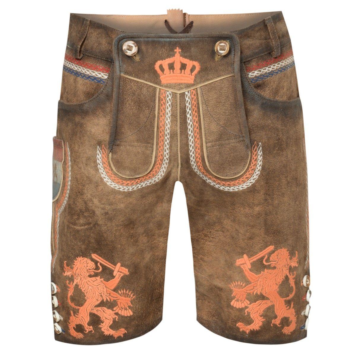 kurze Lederhose Holland in Braun von Krüger   Lederhose für Herren ... 0a16eea99e