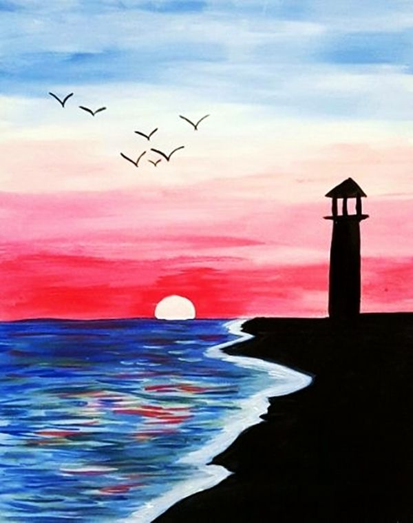 30 best canvas painting ideas for beginners pinterest for Watercolor ideas easy