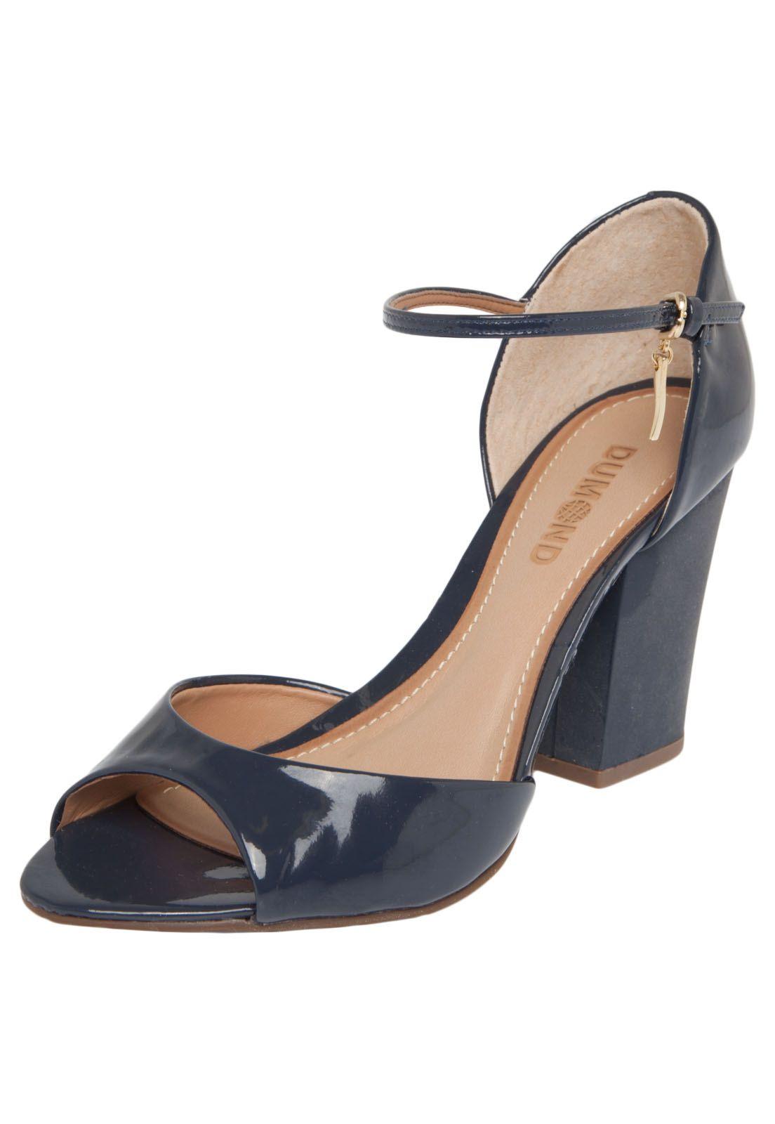 61ad8bbdf Sandália Dumond Jabuticaba Verniz Azul Marinho | Cinderela | Shoes e ...