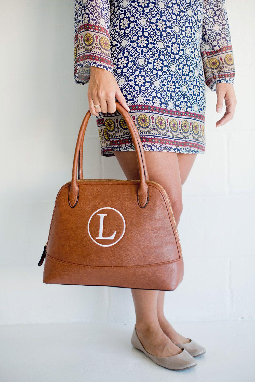 fcb22e696e Camel Monogram Purse - Large Brown Purse - Women s Purse - Personalized  Purse - Initials Purse - Monogram Handbag - Monogrammed Shoulder Bag by ...